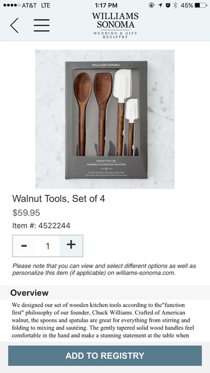 Williams Sonoma Gift Registry screenshot-3