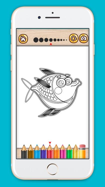 Fantastic Fish coloring book screenshot-3