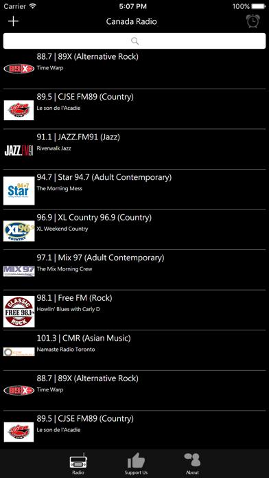 Canadian Radio screenshot one