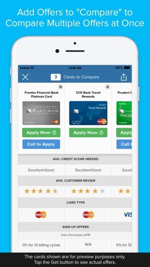 comparecards credit card comparison app on the app store. Black Bedroom Furniture Sets. Home Design Ideas