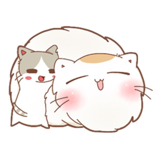 A Chubby Cat And A Thin Cat Stickers