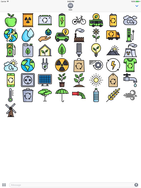Ecology Stickers - Emoji For Environmentalists-ipad-1