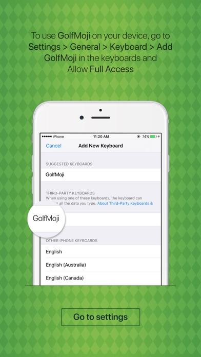GolfMoji - golfer emojis & golf stickers keyboard screenshot four