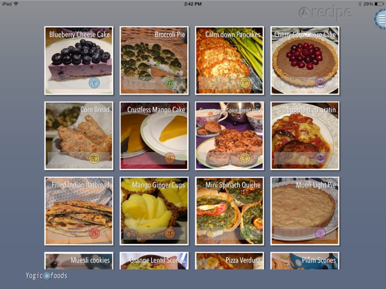 Yogicfoods - Vegetarian, vegan baking recipes screenshot-1