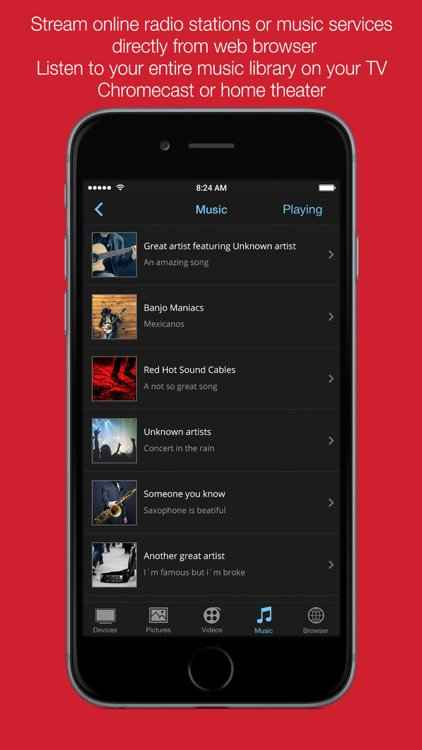 Allcast TV Pro: Cast web videos, music and photos