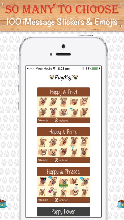 PugMoji - Pug Lovers Emojis and Stickers! screenshot-1