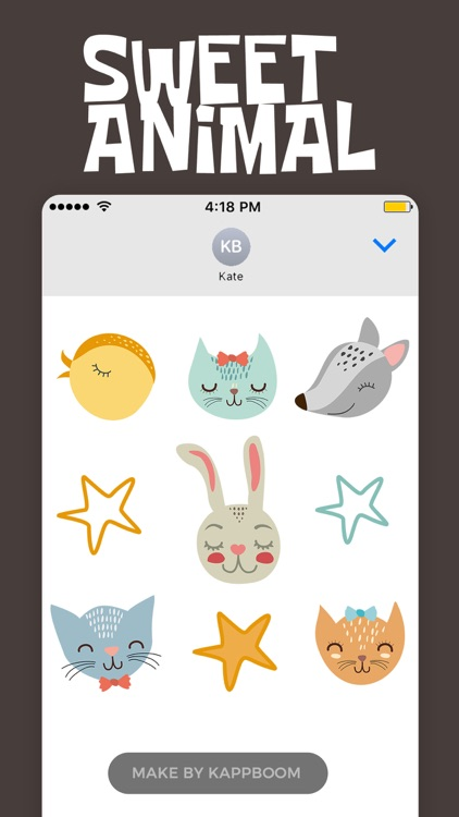 Cute Animals Stickers by Kappboom screenshot-4