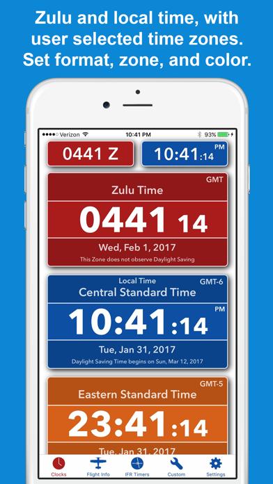 ZivTimer - Flight Timer with Zulu and World Time screenshot one
