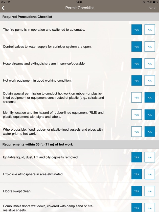 Hot work permit on the app store pronofoot35fo Gallery