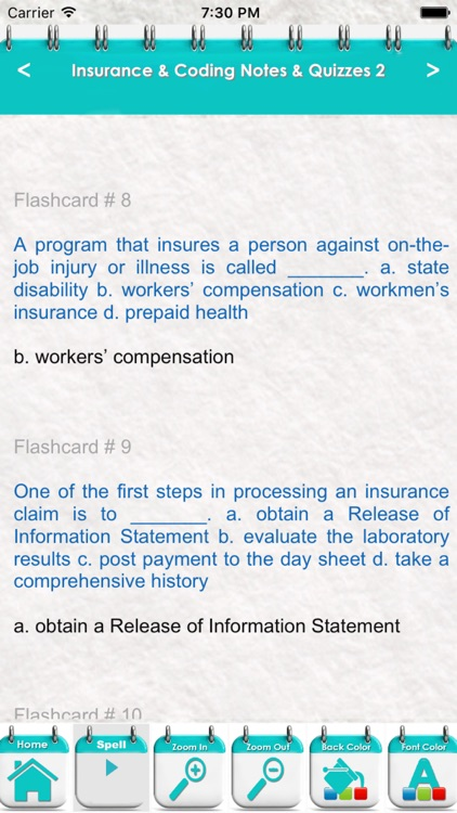 Insurance & Coding Exam Review-Test Bank & Quizzes screenshot-3