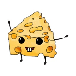 Cheese Stickers stickers by Hasan