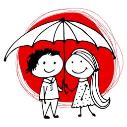 Couple In Love - Valentine's Day Stickers Vol 01