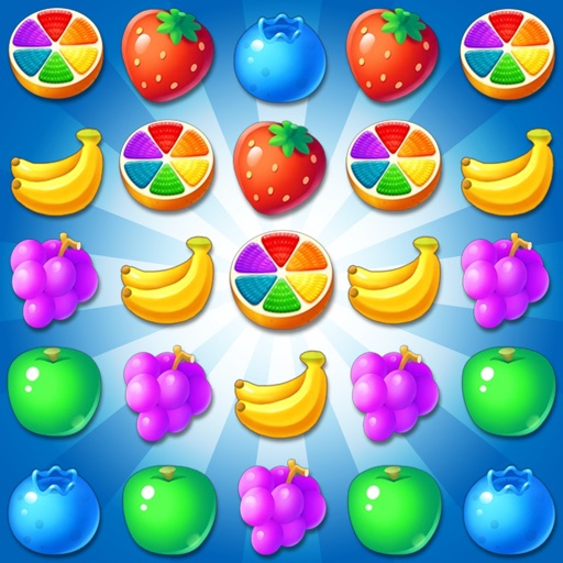 Fruit Yummy Pop - Garden Drop Match 3 Puzzle