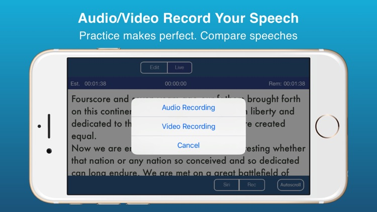 Public Speaking Teleprompter Presenter Audio/Video screenshot-3