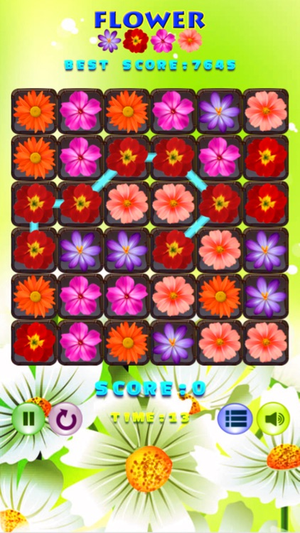 Flower Beautiful Puzzle Match 3 Games
