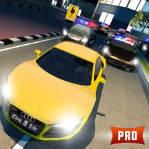 警车追逐3D PRO:夜间模式逃生赛车