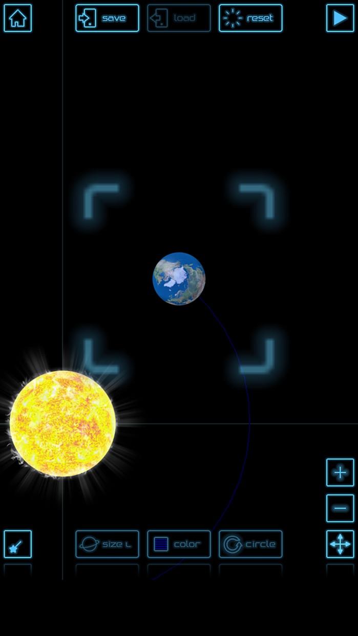 Planet simulation Screenshot