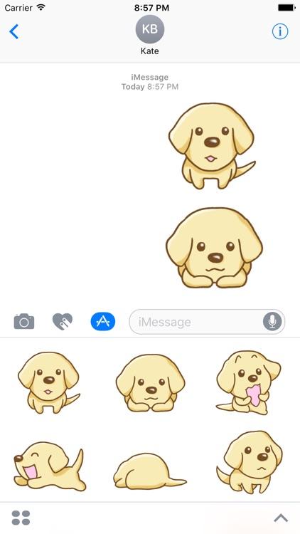 Labrador Retriever Dog Stickers for iMessage