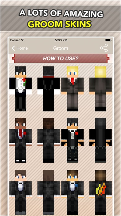Wedding, Bride and Groom Skins For Minecraft PE-1