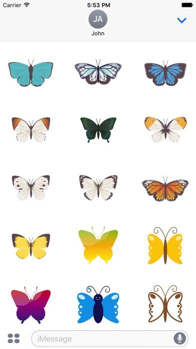 Pop und schicke SchmetterlingsaufkleberScreenshot von 2