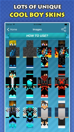 New COOL BOY SKINS FREE For Minecraft PE PC On The App Store - Skins para minecraft pe ipad