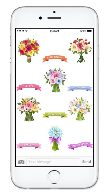 Send Flowers & Messages Sticker Pack screenshot-4