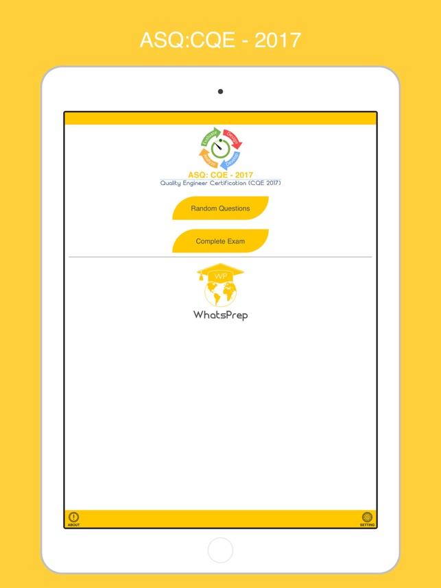 Asq Certified Quality Engineer Cqe 2017 Im App Store