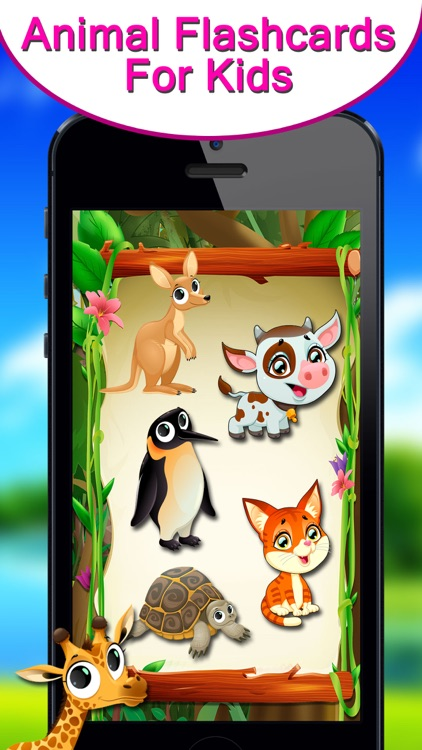 Animals Flash Card For Kids