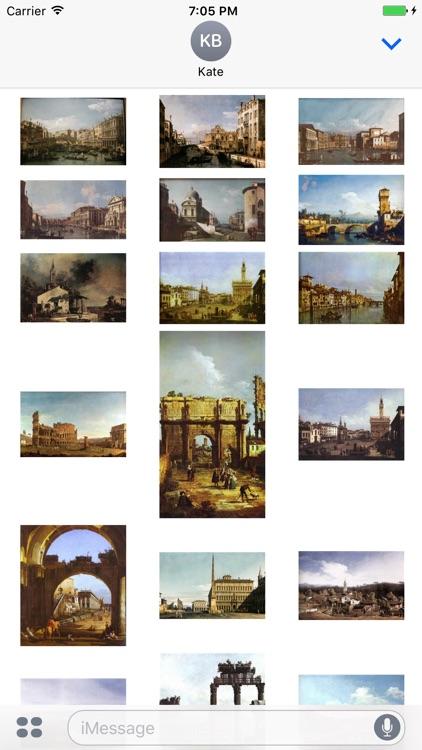 Bernardo Bellotto Artworks Stickers