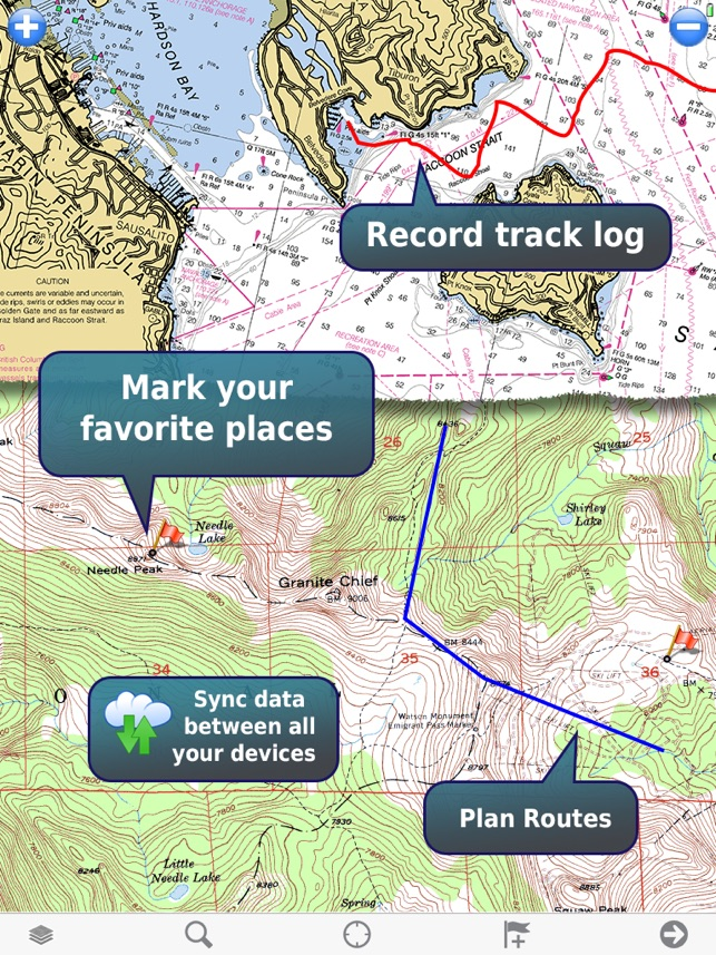 MemoryMap Topo Maps And Marine Navigation On The App Store - Us topo maps pro review
