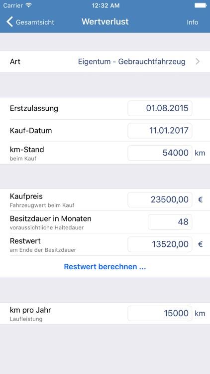 Kfz-Kosten screenshot-3