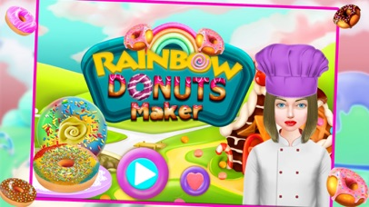 Rainbow Donuts Makers – Baking Chef screenshot one