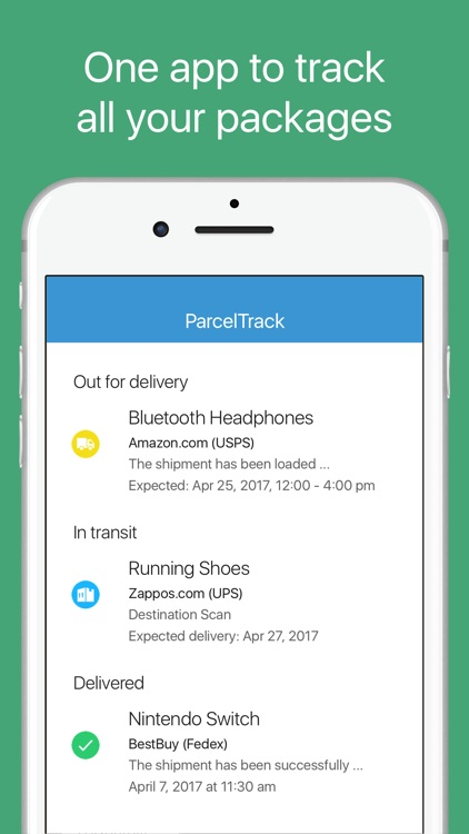 ParcelTrack - Package Tracker