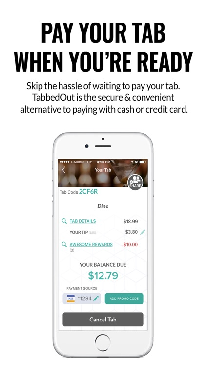 TabbedOut - Pay Your Tab with Your Phone
