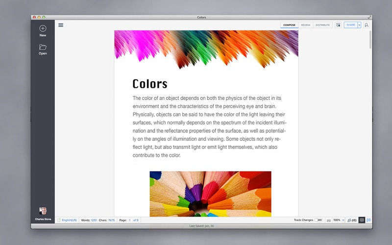 Writer - Online Word Processor for Mac