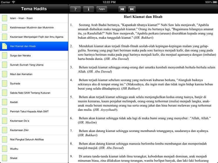 Paket Hadits for iPad