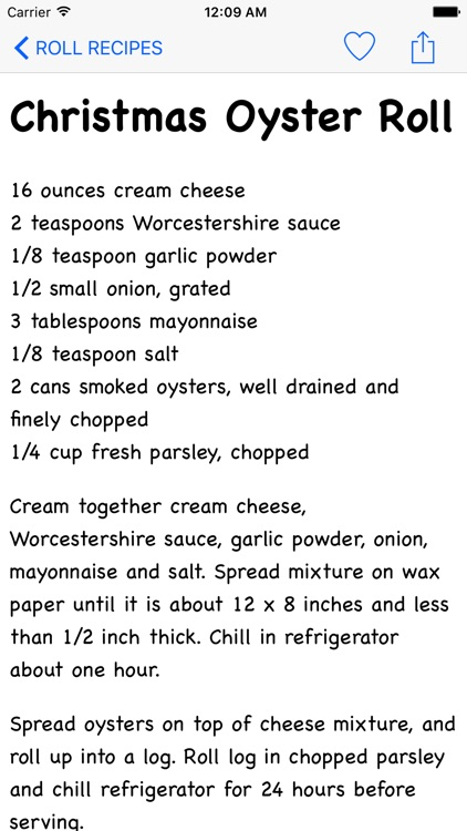 Roll Recipes