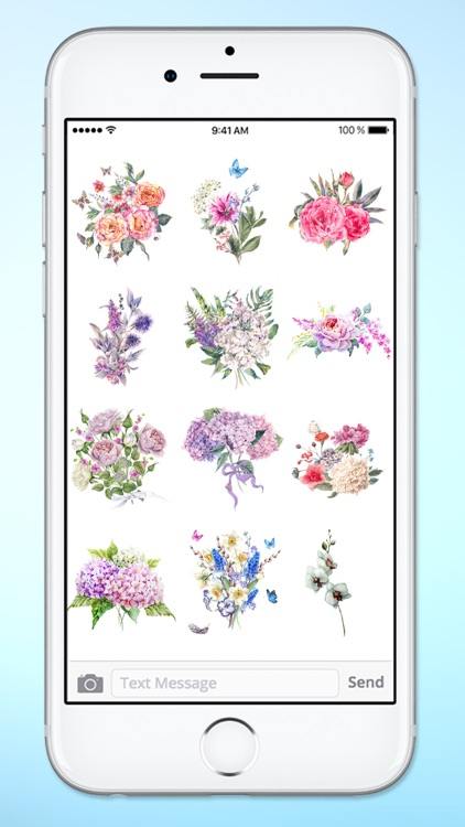 Watercolor Flower Bouquets Sticker Pack screenshot-3