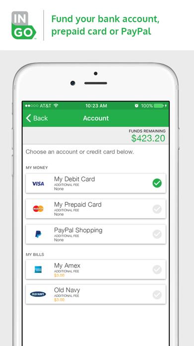 Ingo Money – Cash Checks Fast to Bank, Prepaid Screenshot