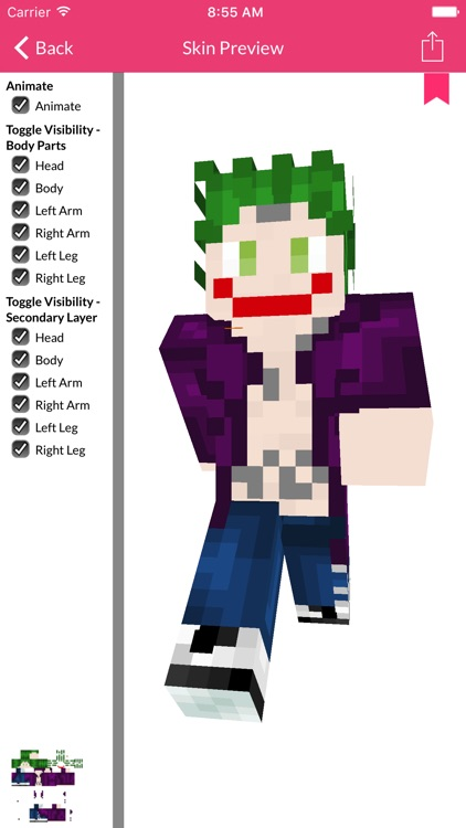 SS Skin For Minecraft Edition