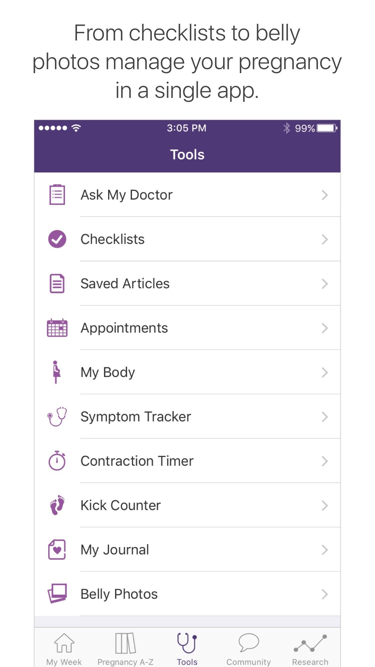 WebMD Pregnancy Screenshot