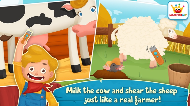 Dirty Farm: Animals & Games for toddlers and kids