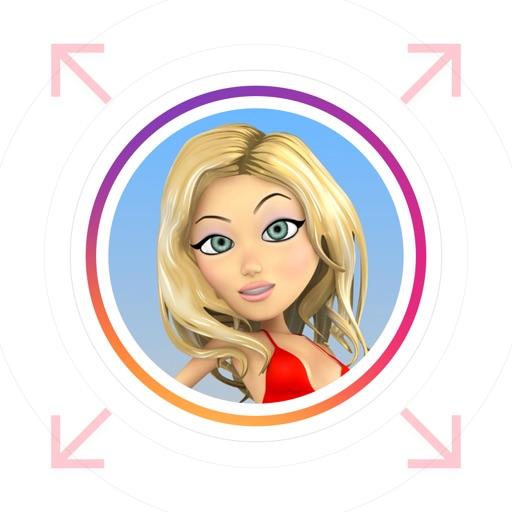 InstaZoom - Profile Pictures Zoomer for Instagram app logo
