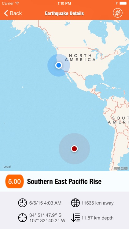 EarthQuakes - from USGS