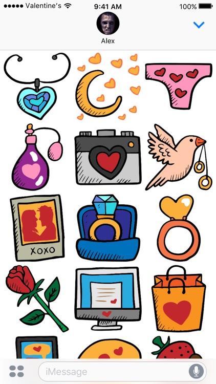 Valentine's Day stickers - Love Valentines 2017