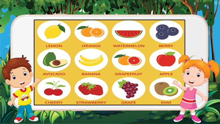 ABC Alphabet Fruit-Veget Trace Flashcards for Kids screenshot-3