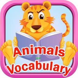 Animals Vocab Alphabet Flashcards for Preschool