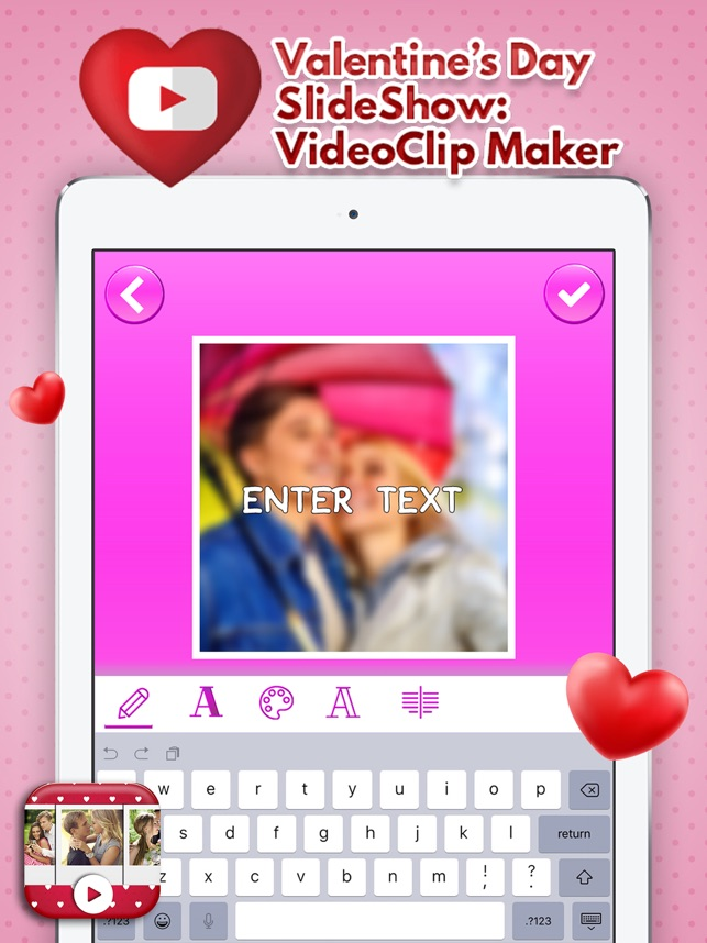 valentines day slideshow videoclip maker on the app store