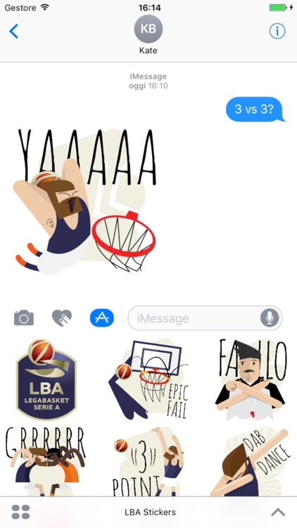LBA stickers - LegaBasket Serie A screenshot-2