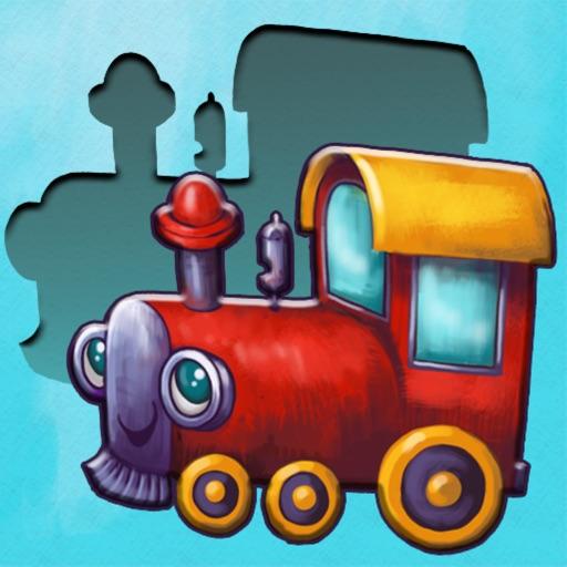 Пазлы для малышей с поездом